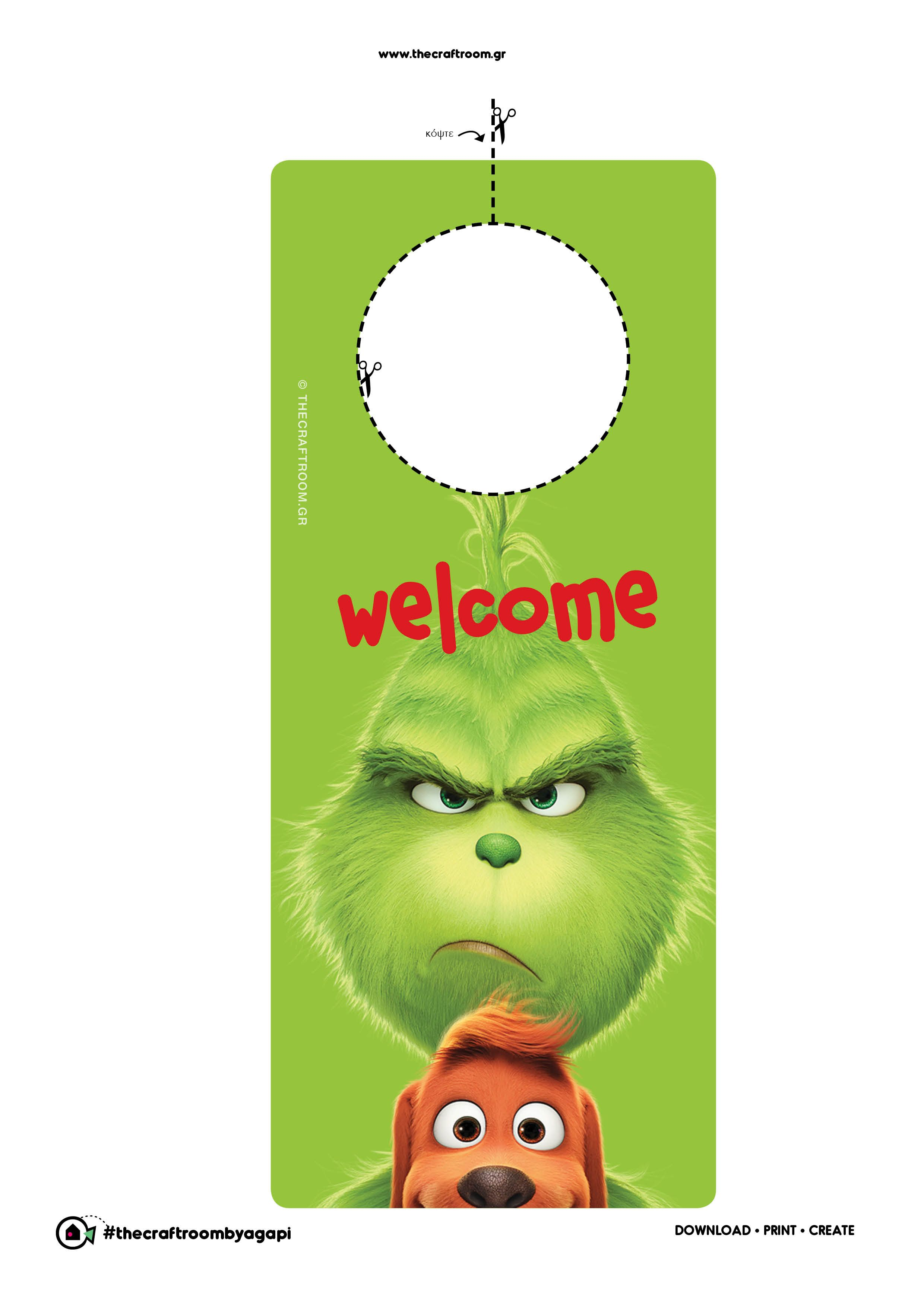 Welcome Note Grinch Party Free Printables