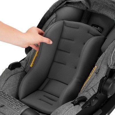 Evenflo Pivot Xpand Modular Travel System With Safemax Infant Car Seat Percheron