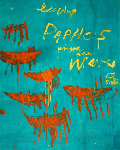 Leaving Paphos Ringed with Waves III (2009). Cy Twombly. - #Art #LoveArt http://wp.me/p6qjkV-g0A