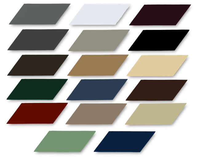 Everlast metals color chart roofing colors home roof ideas also the best of rh threefeel