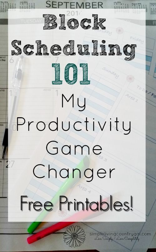 How to use block scheduling to change your life organization learn how to time block your schedule and completely up your productivity step by step guide and free worksheet ibookread Download