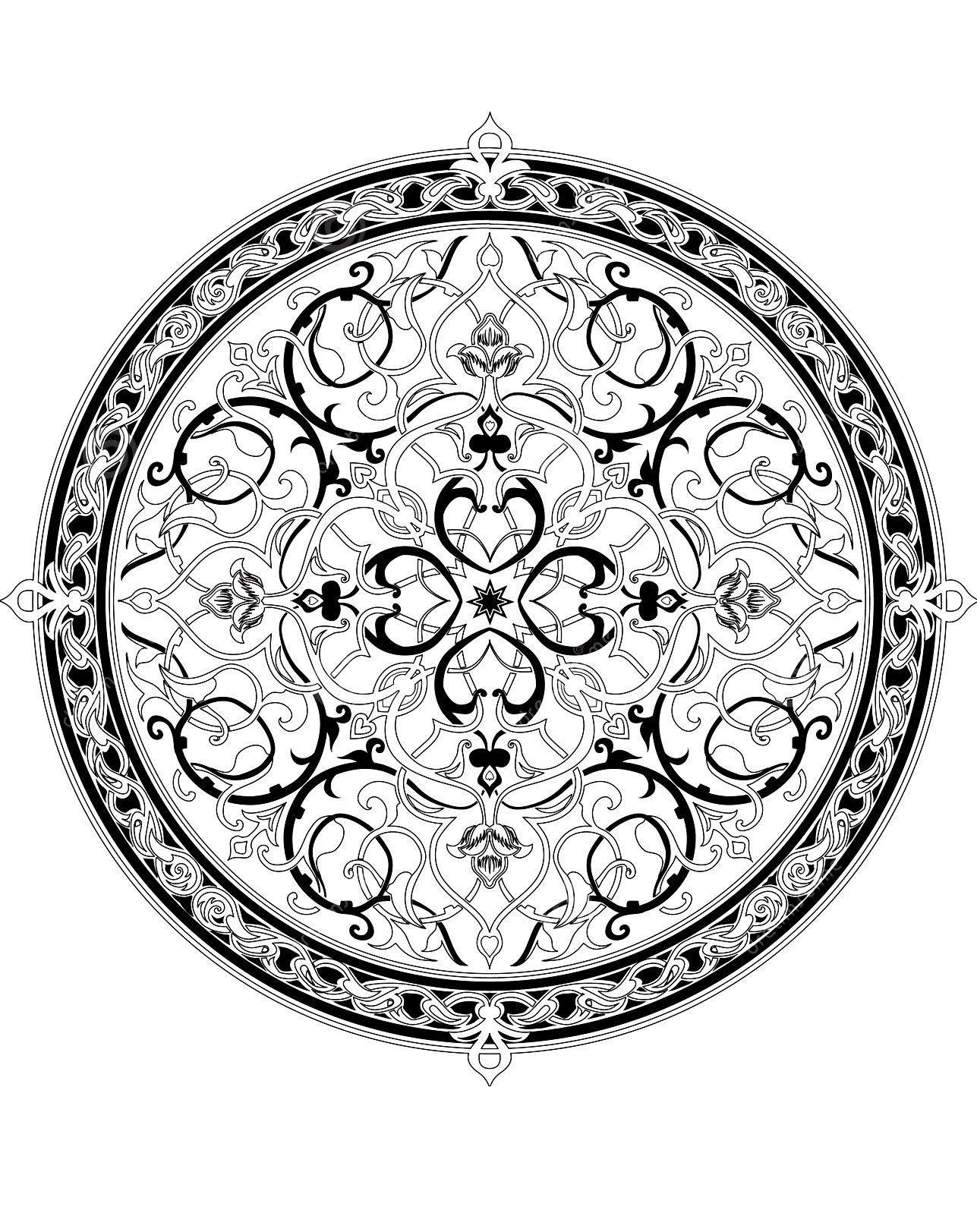 Frais Coloriage Mandala Image Ou Dessin A Imprimer Et Colorier