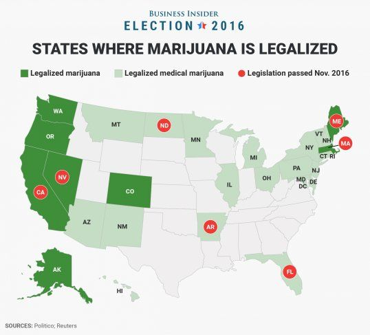This map shows every US state where is legal