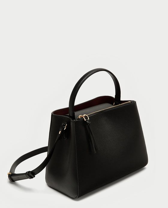 61db0e699 Image 5 of MEDIUM TOTE BAG WITH ZIP from Zara Mulher, Modelagem, Mini Bolsas