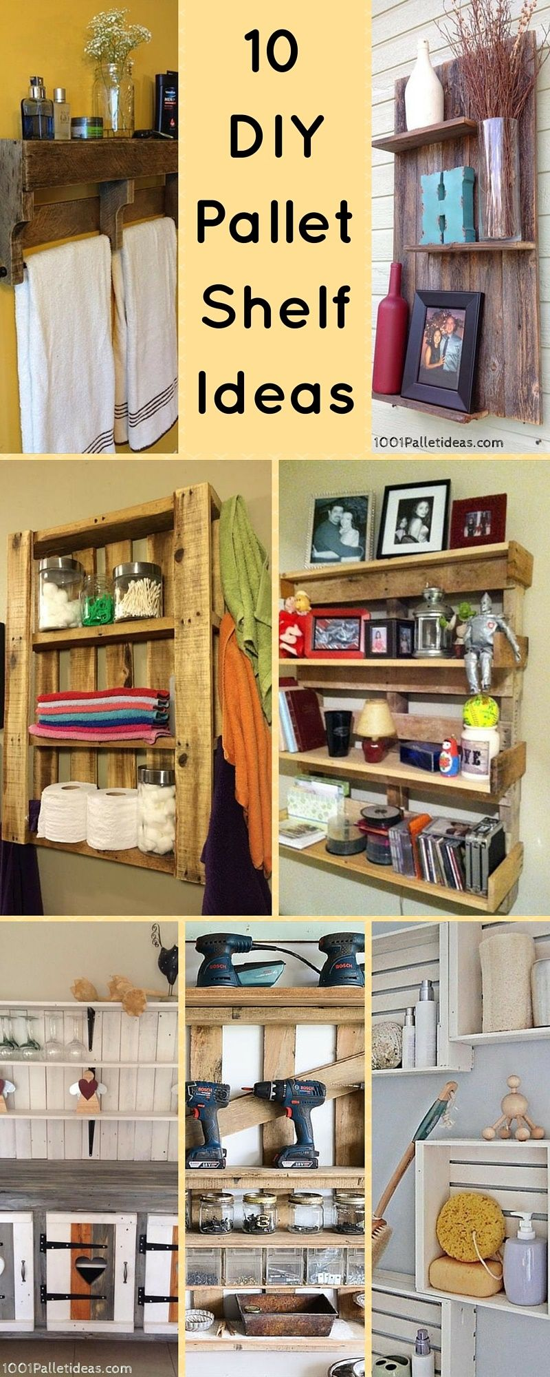 10 diy wood pallet shelf ideas wood pallet shelves. Black Bedroom Furniture Sets. Home Design Ideas