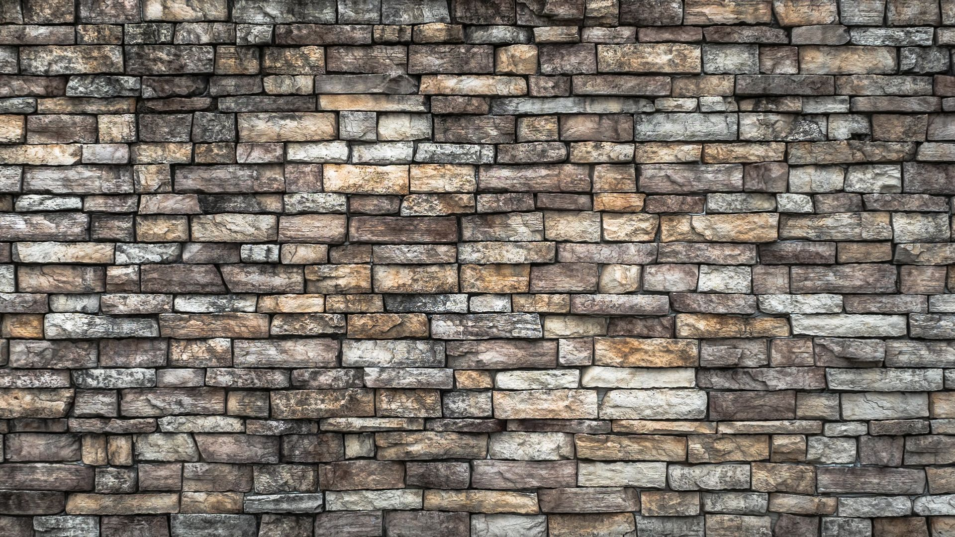 1920x1080px Free Download Hd Wallpaper White And Brown Ceramic Bricks Wall Damme Stone Wall Pattern Wallpa In 2021 Stone Wall Black Brick Wall Brick Texture