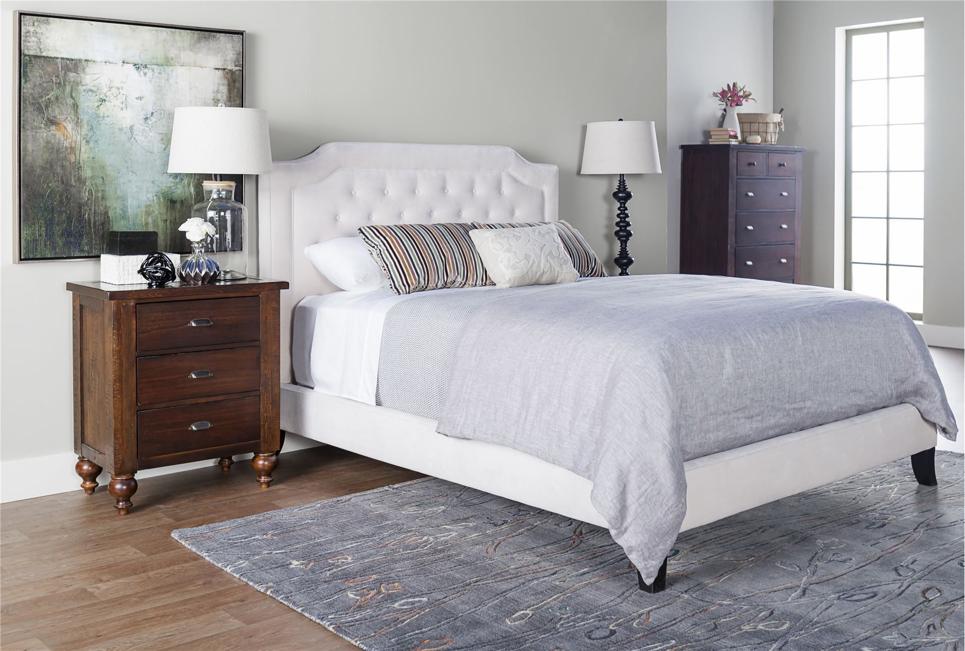 bardot fabric eastern king panel bed fabrics light gray walls and