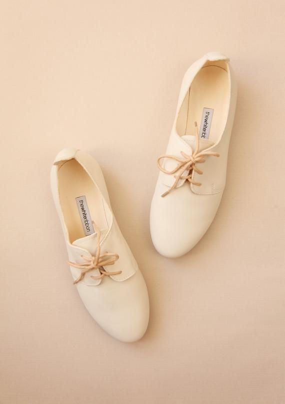 Wedding Derby Shoes in Vanilla Ivory Leather | Ets