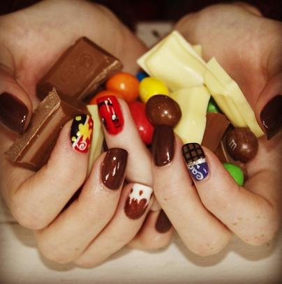 chocolate #week #nail #art #tasty #nails #ilovenails