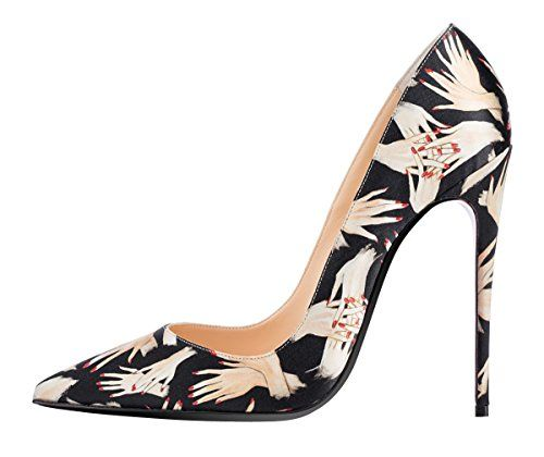 d51a4e449fe Amazon.com  Onlymaker Ladies Women s High Heel Fashion Pumps Sxy Hands  Printed Shoes Handmade For Wedding Party Dress Shoes  Shoes