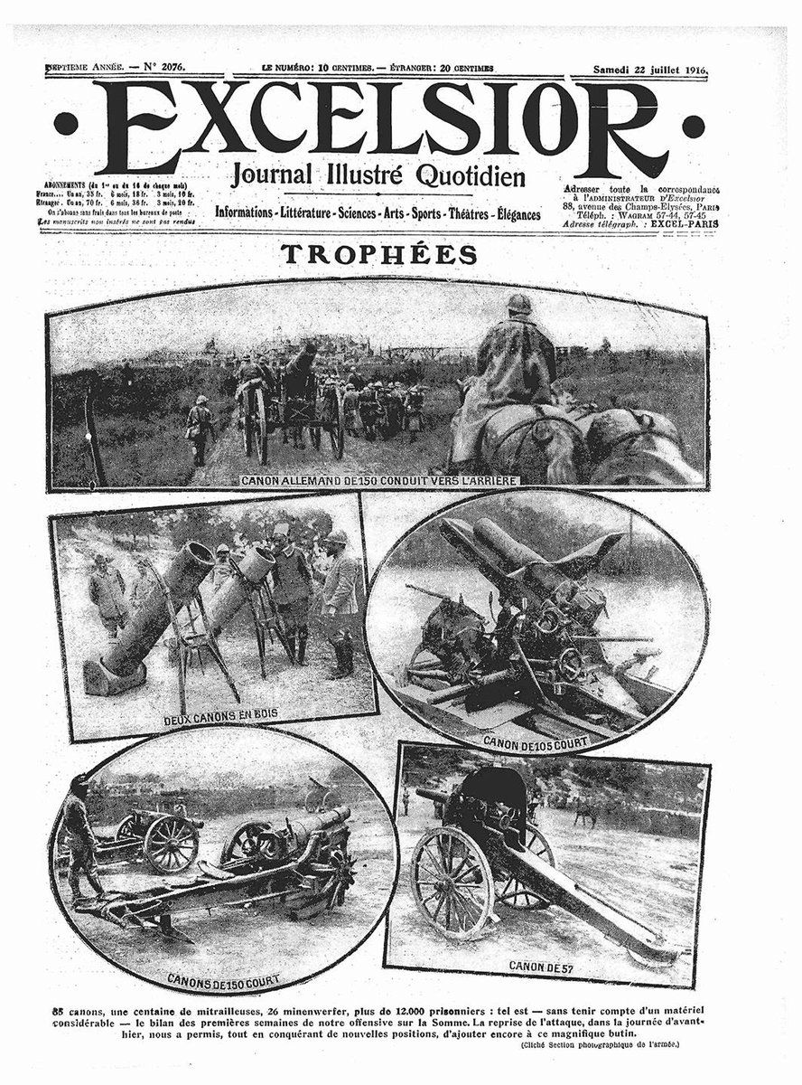 July 22, 1916: Trophies.