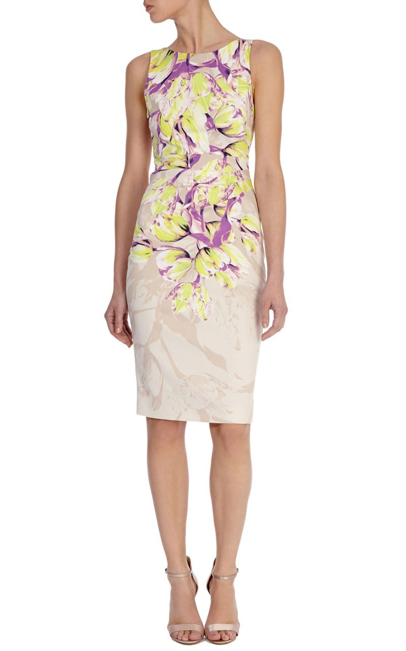 9b68836ca4c7 karen millen Floral print shift dress DS248