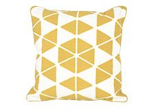 Cuscini 45 X 45.Cuscino 45 X 45 Cm Trio Mostarda E Bianco Cushions Linen
