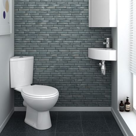 bermuda corner cloakroom suite   online at victorian