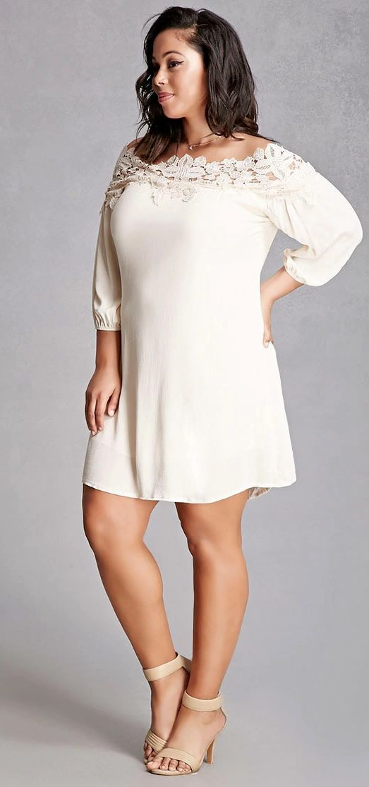 Plus Size Crochet Mini Dress plussizedresses Hermosa