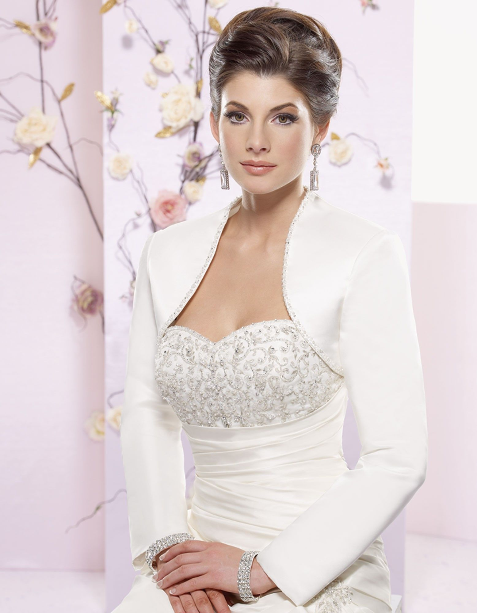Charming long sleeve wedding dress jacket a dream