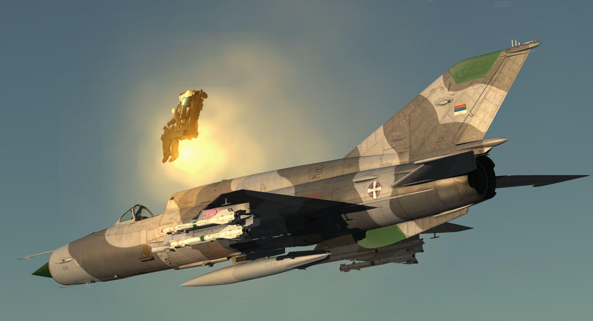 MiG-21 pilot ejection (DCS World) | Aviation | Mig 21