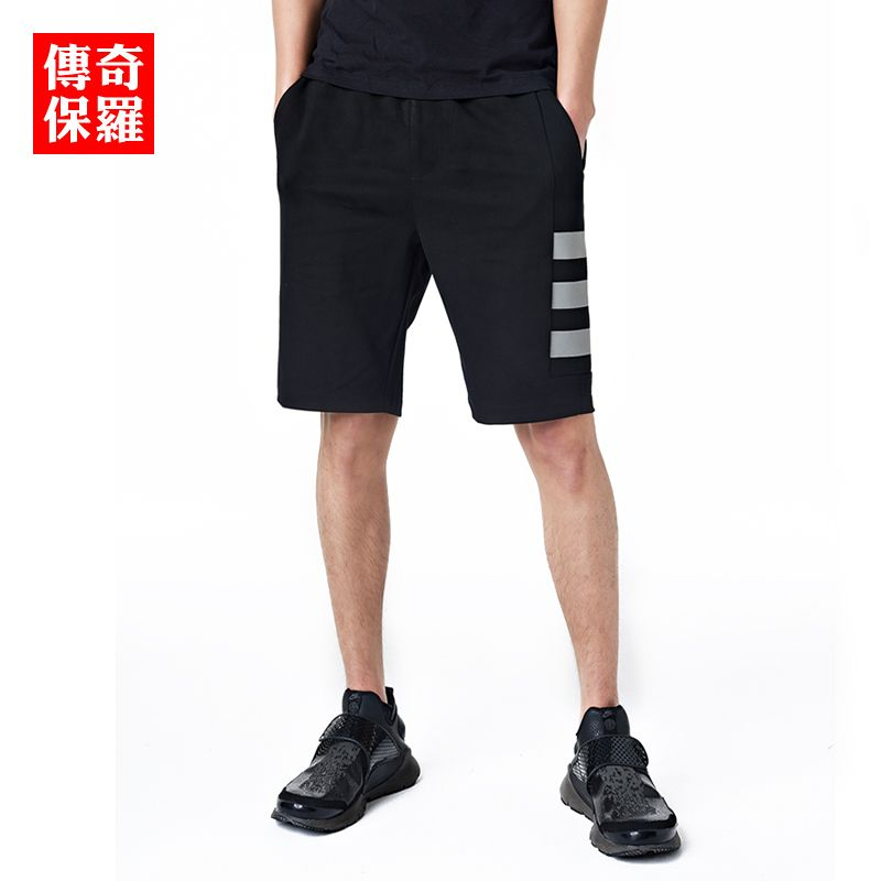 5277bf6b997 Mens summer casual shorts 2017 fashion mens bottoms black men reflective  short pants