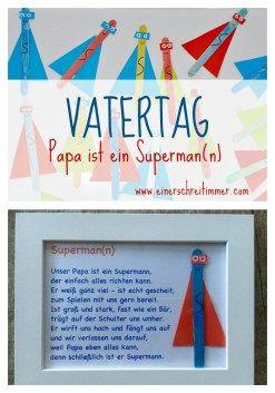 Basteln f r den vatertag papa ist ein superman n - Geschenk basteln papa ...