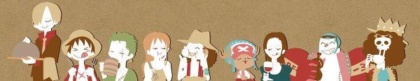 Nami, Usopp, Chopper and Robin #one piece