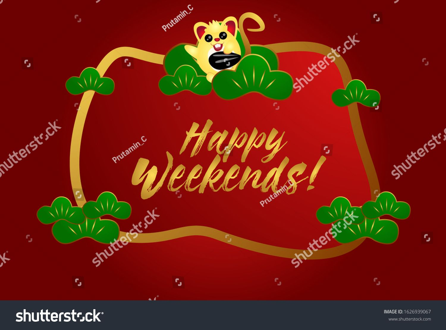 Happy Weekends Beautiful Greeting Card Background Or Template