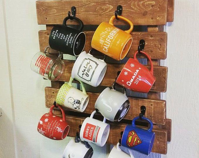 Teak Sweetbay Reclaimed Wood Mug Rack 21 Placement