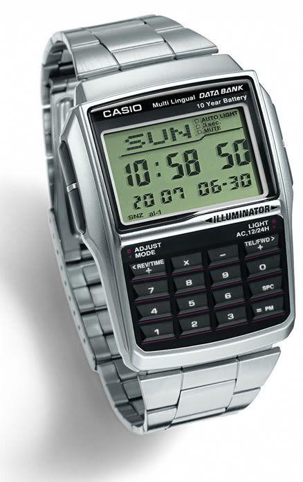 11b3d7590c7c Reloj Casio Dbc32 Data Bank Calculador 5 Alarmas Despertador -   459.00 en  MercadoLibre