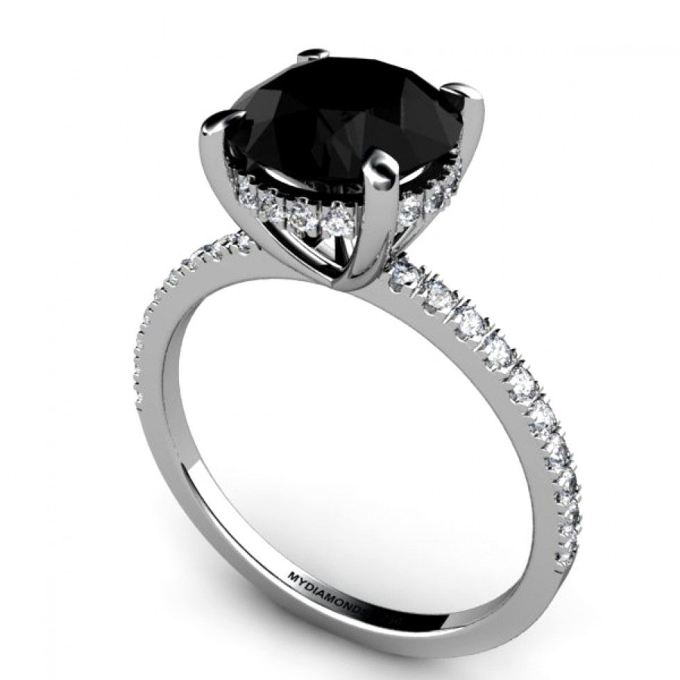 black diamond engagement ring - google search | rings | pinterest