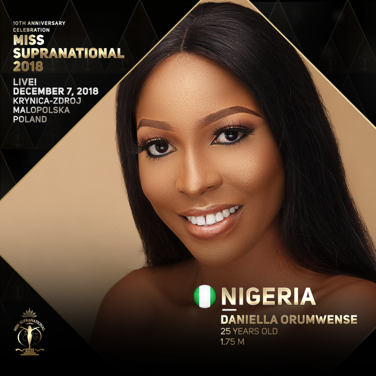 NIGERIA Miss Supranational Official Website in 2019