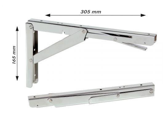 Wenig Platz An Deck? Mit Diesem Klappbaren Edelstahl Beschlag Für Tisch   Oder Arbeitsplatte