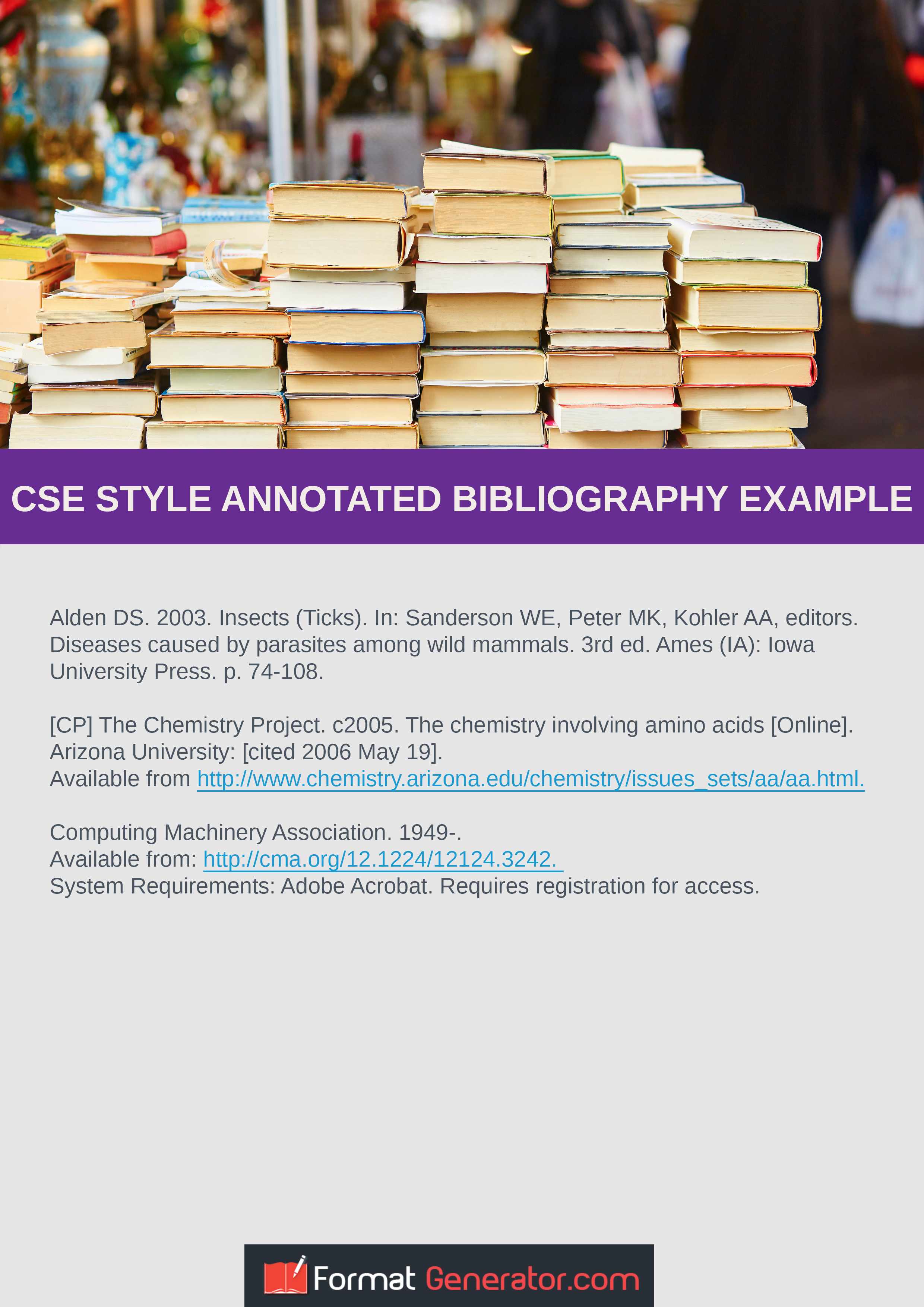 cse style annotated bibliography example that will show you how to