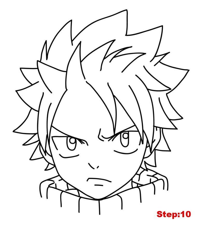 How To Draw Natsu From Fairy Tail Mangajam Com En 2020 Dessin Fairy Tail Dessins Faciles Dessin D Humain