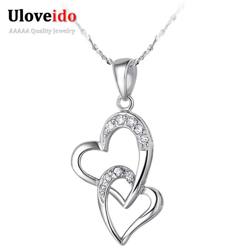 Find More Chain Necklaces Information about Double Heart With Crystal Collars Pendant Necklace Women 2016 Fashion Jewelry Valentine's Day Gift Bijoux Bague Femme Retro N220,High Quality necklace cover,China necklace yarn Suppliers, Cheap necklace beads for sale from D&C Fashion Jewelry Buy to Get a Free Gift on Aliexpress.com