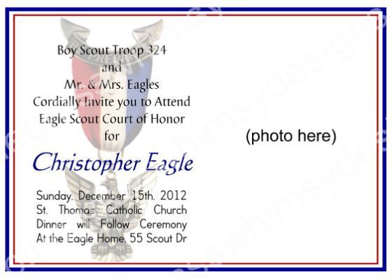 Eagle scout court of honor program eagle court of honor for Eagle scout certificate template
