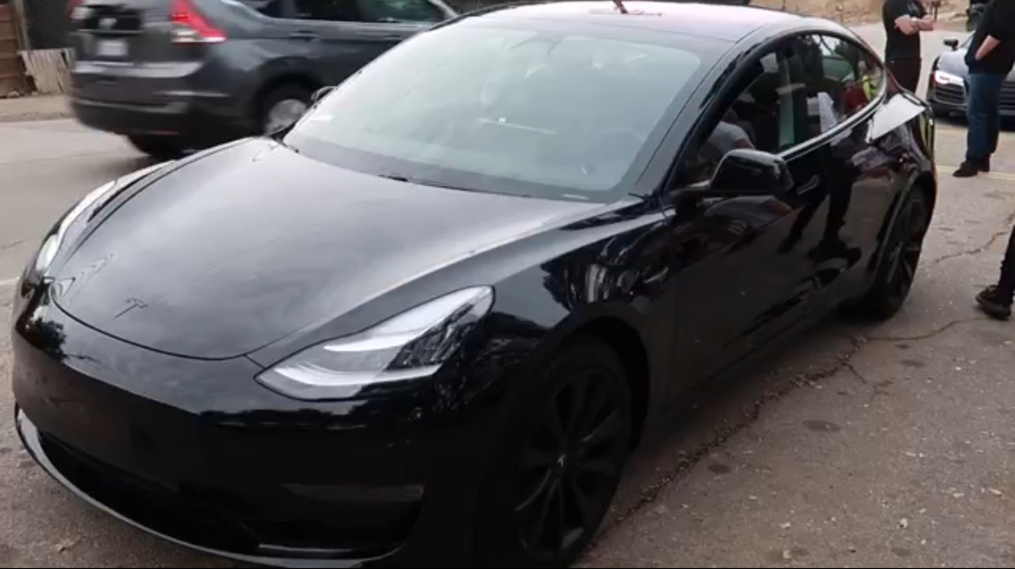 Blacked out Tesla Model 3 Tesla Pinterest