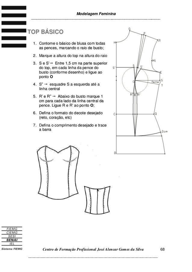 3apostila3 de modelagem blusa | DIY | Pinterest | Costura, Moldes ...