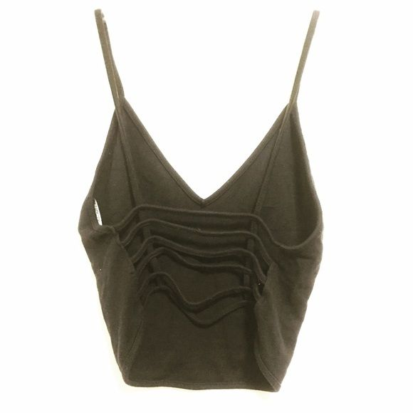 Brandy black top $12 Fits & looks like Joanne top but has a strappy back! Brandy Melville Tops Crop Tops