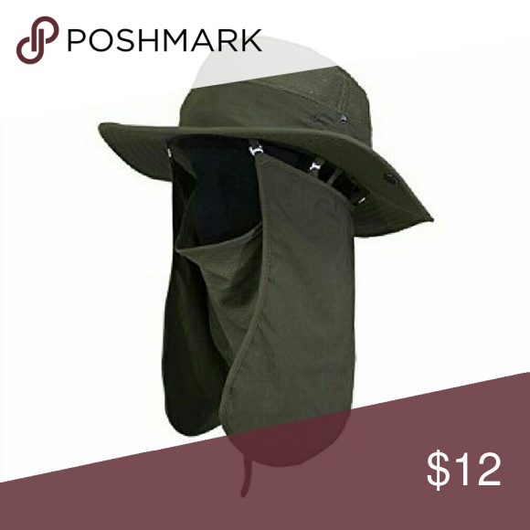 Brand new with tag UV 50+ Protection Outdoor Multifunctional Flap Hat Neck  Protection Cap for Fishing Hiking Garden Work Outdoor Activities  Accessories Hats 86a4d007af1