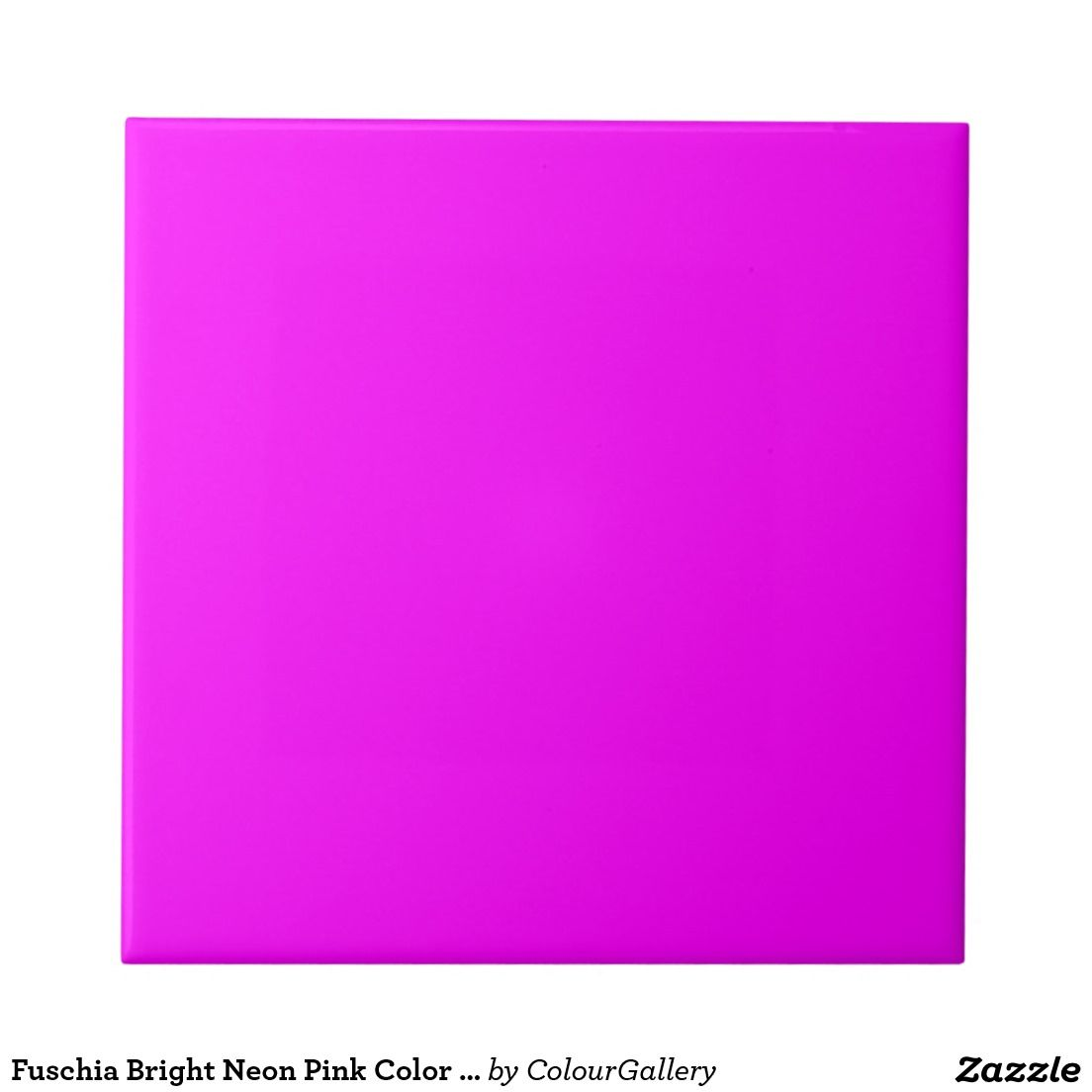 Fuschia Bright Neon Pink Colour Background Purple Small Square Tile ...