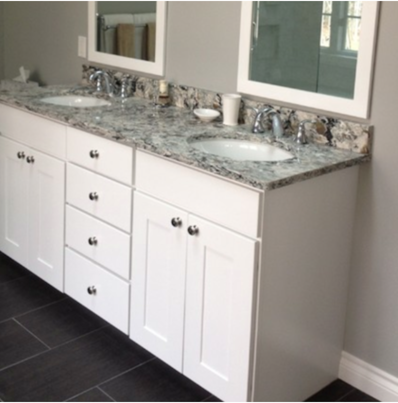 Kabinart white shaker vanity bathrooms bathroom - Unfinished shaker bathroom vanity ...