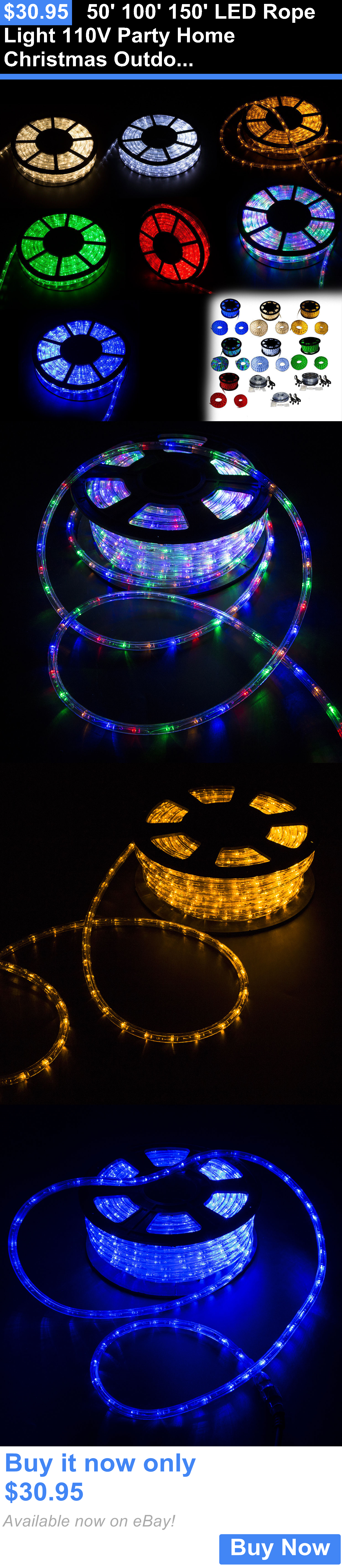 Lamps And Lighting 50 100 150 Led Rope Light 110V Party Home