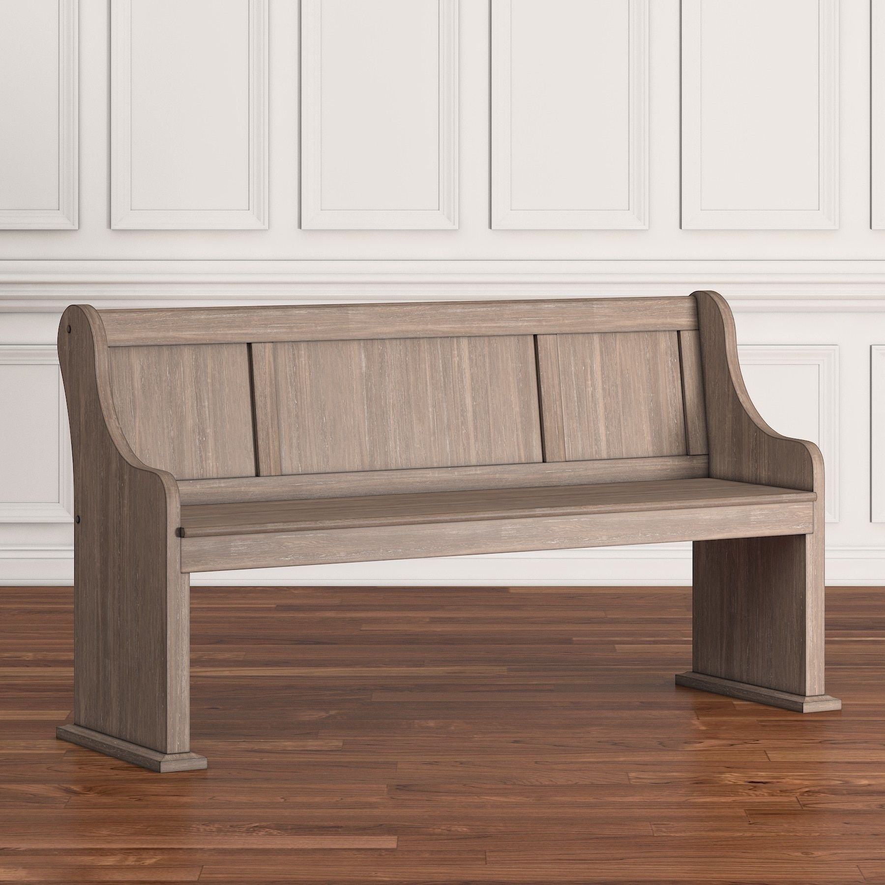 Rowyn Wood 62 Inch Wire Brushed Entryway Dining Bench by iNSPIRE Q