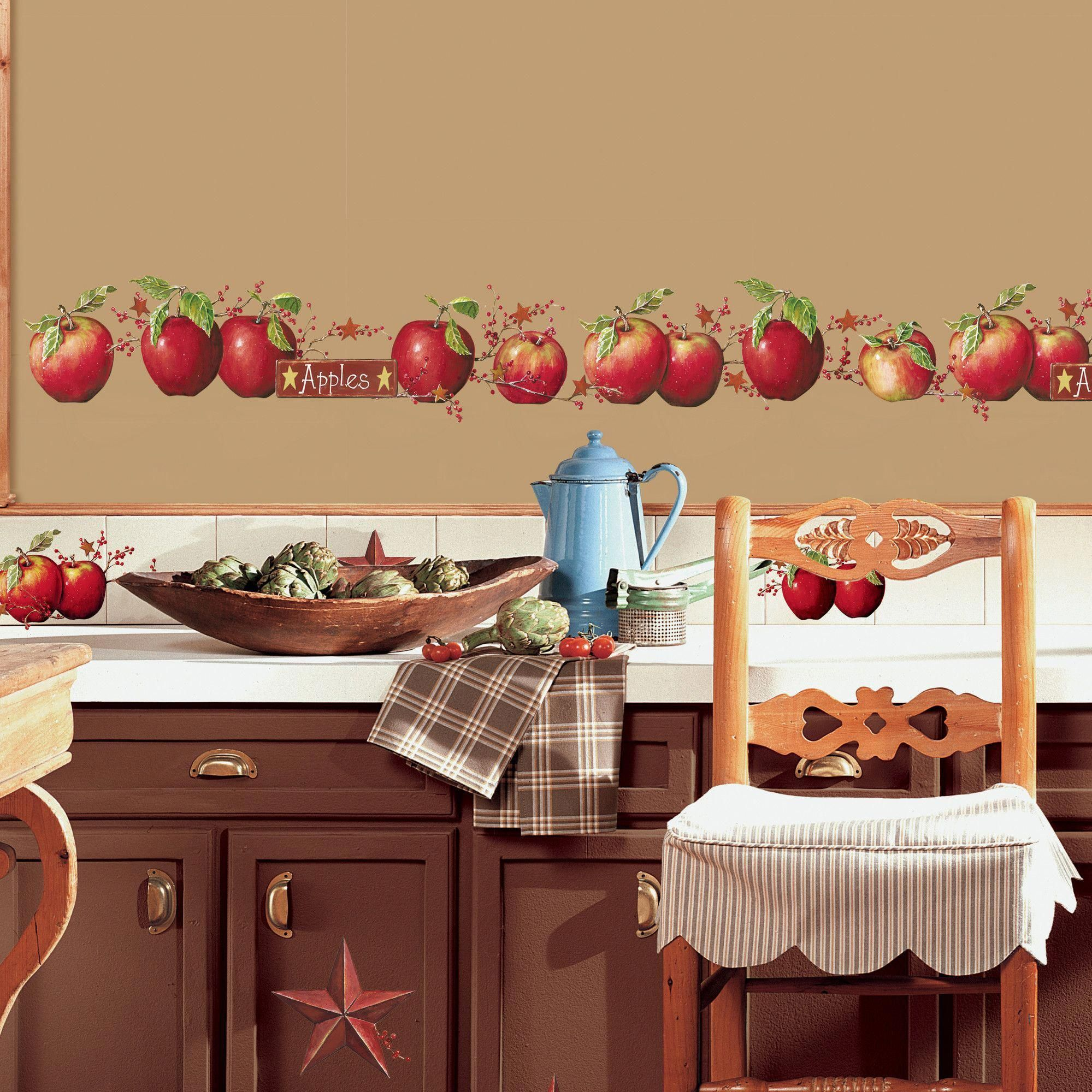 Found it at Wayfair - Country Apples Peel and Stick Wall Decal for