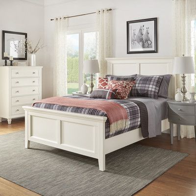 Darby Home Co Isabella Panel Bed Color White Size Queen