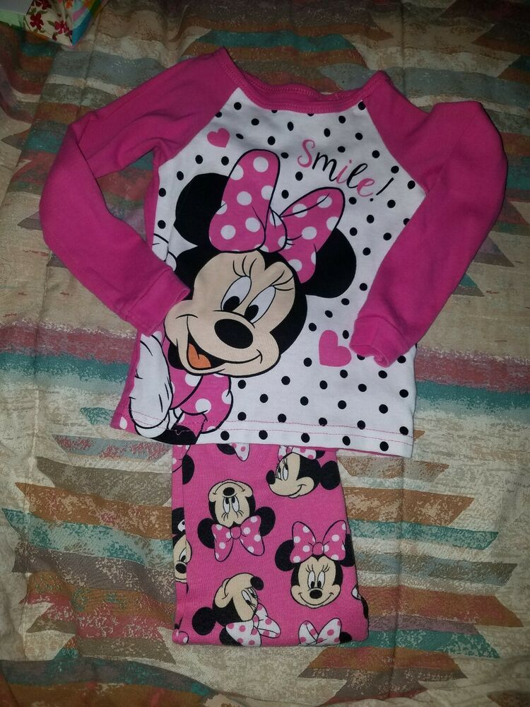980ae6b60 Toddler Girls Size 4T DISNEY Minnie Mouse Long Sleeve 2 Piece Pajamas pink  sleep #fashion #clothing #shoes #accessories #babytoddlerclothing ...