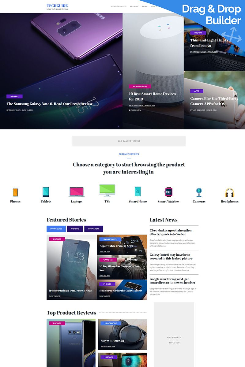 Latest Tech News Website Template