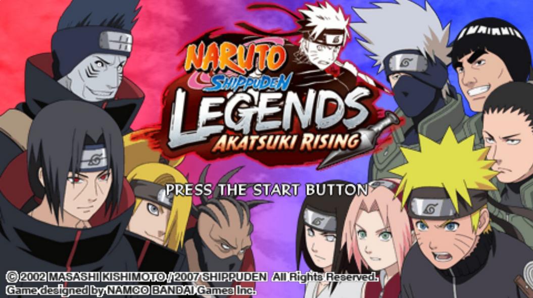 Naruto Shippuden Legends Akatsuki Rising apk psp game