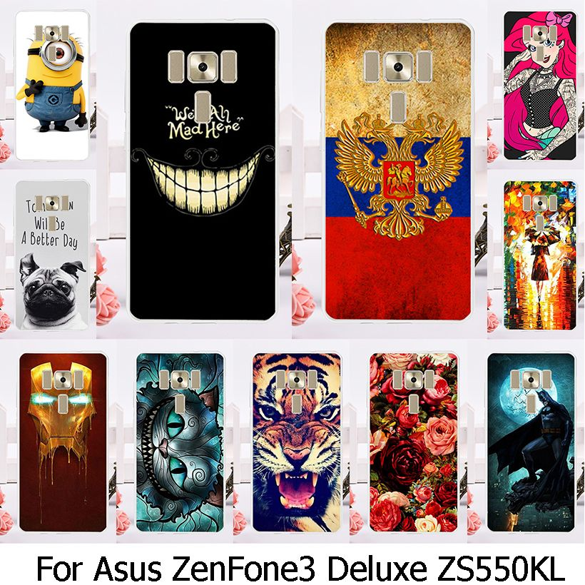 Soft TPU Plastic Phone Case For Asus Zenfone 3 Deluxe Zenfone3 ZS550KL Zenfone 3 Max ZC553KL Zenfone3 Max 5.5 inch Case Cover