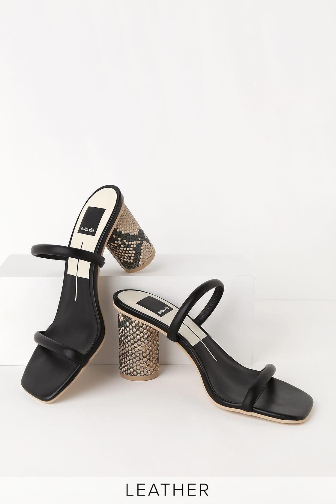Noles Black Leather High Heel Sandals In 2020 Sandals Heels High Heel Sandals Black Leather Heels