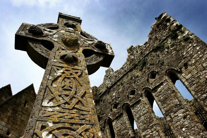 Cross at St.Patrick's Cathedral and the Rock of Cashel
